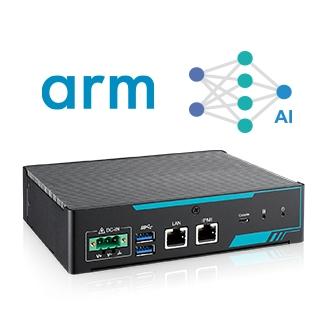 24-core Foxconn Cortex-A53 MPU with Hailo/Lightspeeur AI Accelerator Card, Arm-based Edge AI Computing System Image