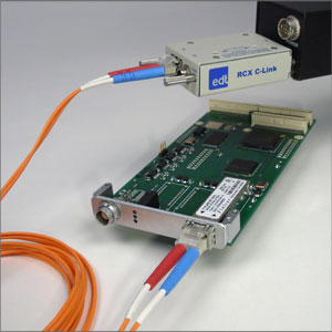 Camera Link frame grabber for PMC with fiber-optic cable Image