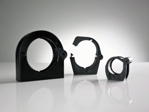 Gripping Clamp with Nylon Closure Latch Avaiablel for Conduit Sizes 17-95mm Image