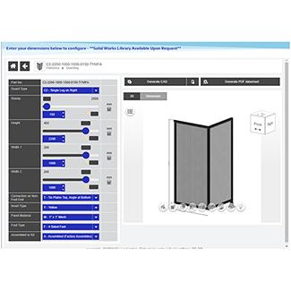Robotic & Equipment Guarding CAD Configurators Image