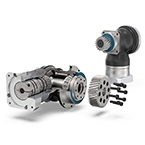Precision right angle gearboxes from Neugart with a premounted pinion image