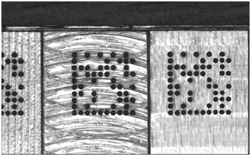 Dark barcodes printed on dark backgrounds (like this 1D barcode on cardboard), or light symbols marked on light or reflective materials (like this 2D Data Matrix on metal), can cause no read results due to poor contrast between light and dark symbol elements.