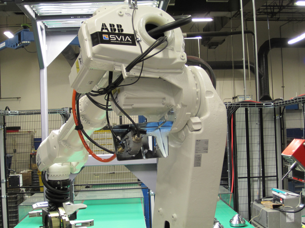 The first ABB Robotics SVIA PickVision machine tending system installed in the US at Atlas Copco in July 2013