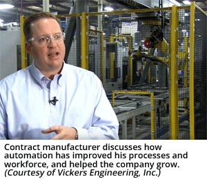 Contract manufacturer discusses how automation has improved his processes and workforce, and helped the company grow. (Courtesy of Vickers Engineering, Inc.)